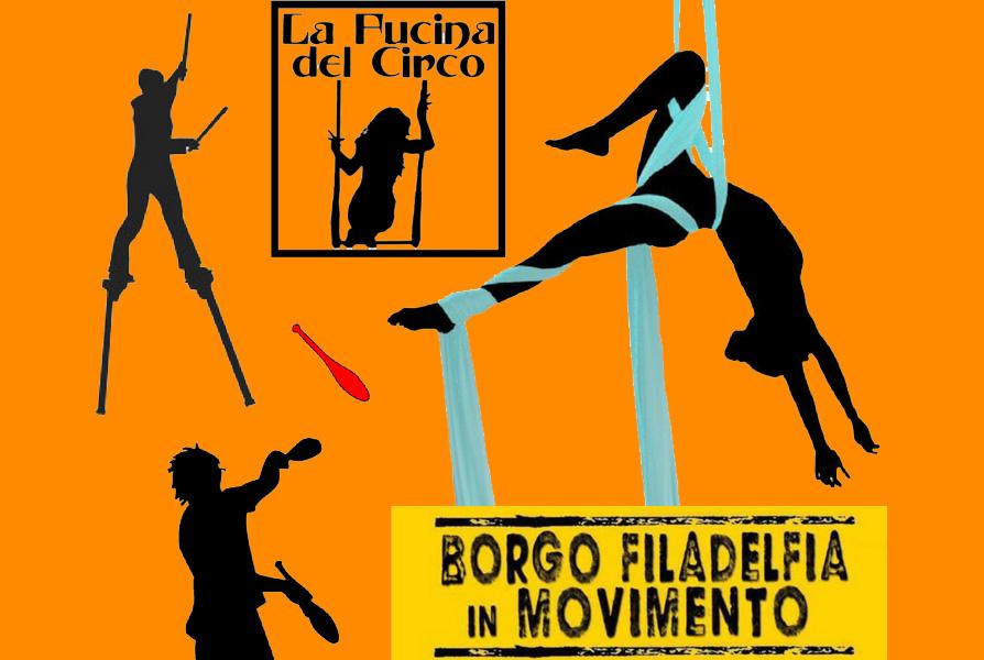 Festa di quariere torino Borgo Filadelfia circo e acrobatica aerea martina nova la fucina del circo