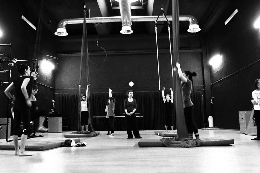 Martina Nova insegnante a La Fucina Del Circo